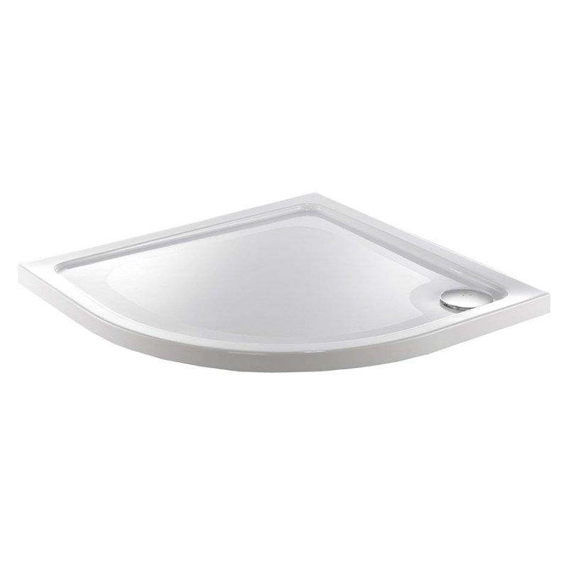 Just Trays Fusion 800mm Quadrant Shower Tray 2 Upstands