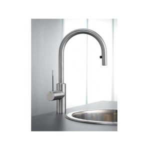 KWC Ono Sink Mixer with Pull-Out Aerator Stainless Steel