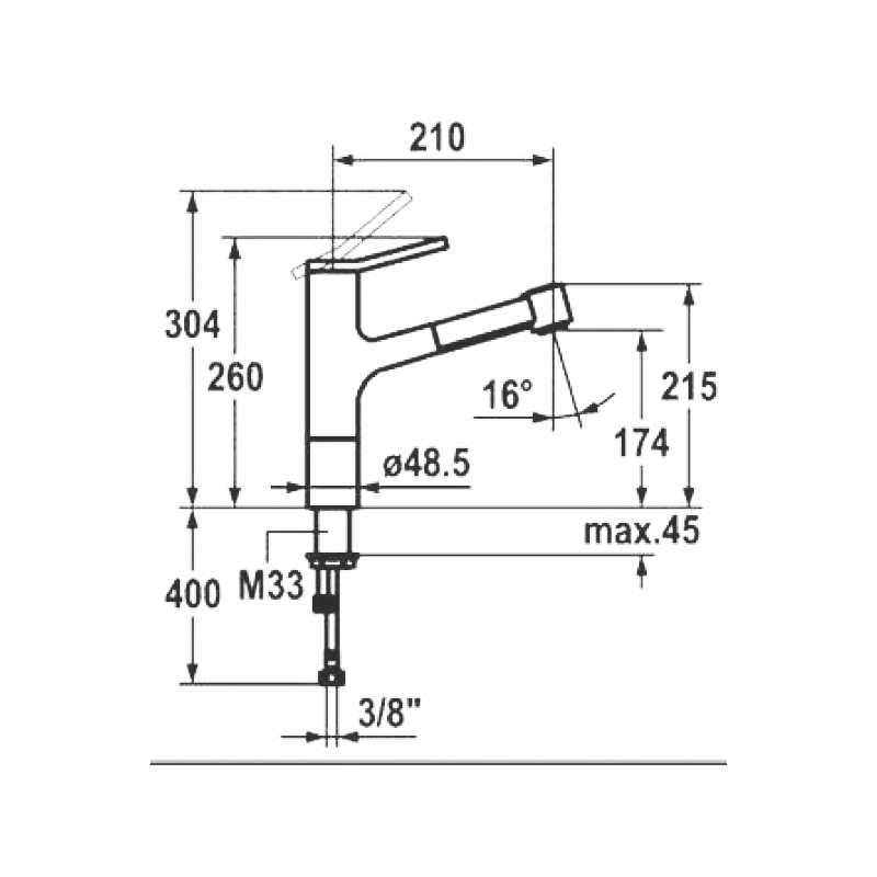KWC Ava Mono Sink Mixer with Swivel Spout Decor Steel