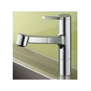 KWC Ava Mono Sink Mixer with Pull-Out Spray Chrome