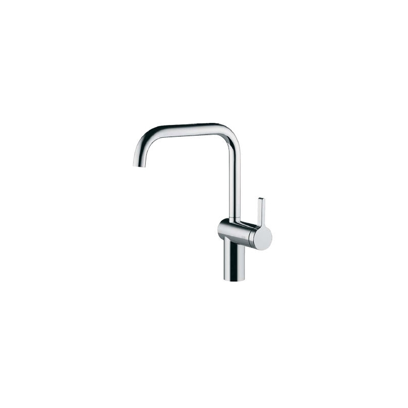 KWC Livello Mono Sink Mixer with Swivel Spout Stainless Steel
