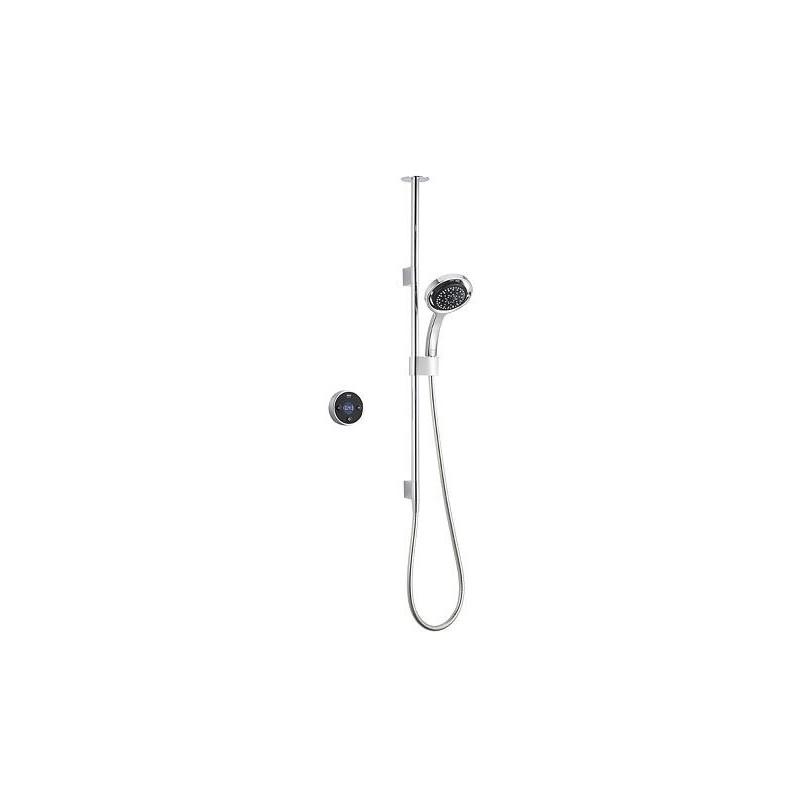 Mira Platinum Ceiling Fed Digital Shower HP Black/Chrome
