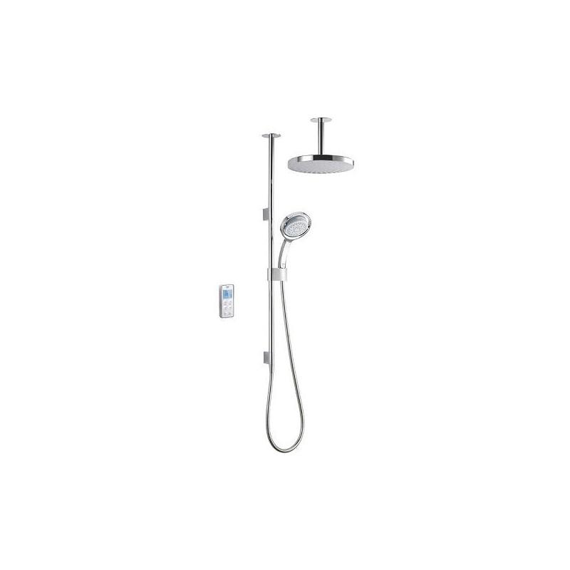 Mira Vision Dual Ceiling Fed Shower High Pressure White/Chrome