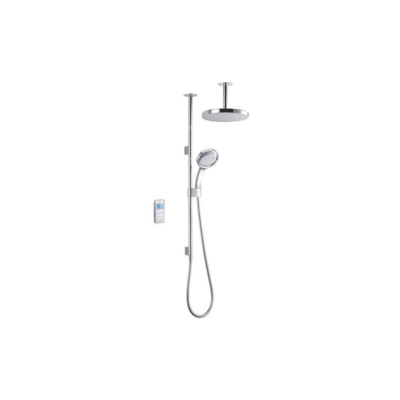 Mira Vision Dual Ceiling Fed Shower Pumped White/Chrome