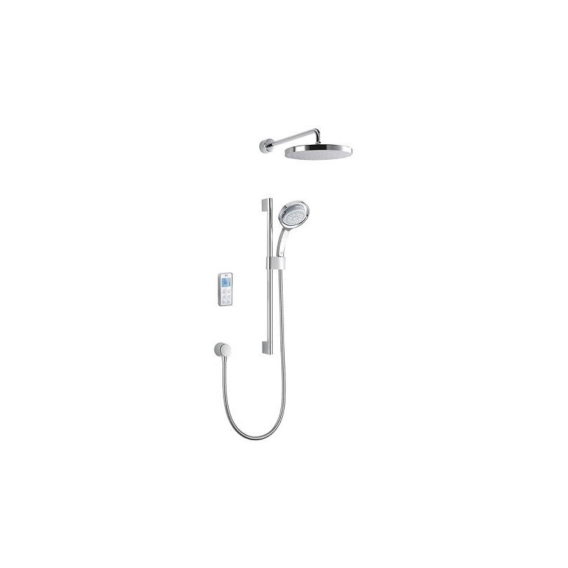 Mira Vision Dual Rear Fed Shower Pumped White/Chrome