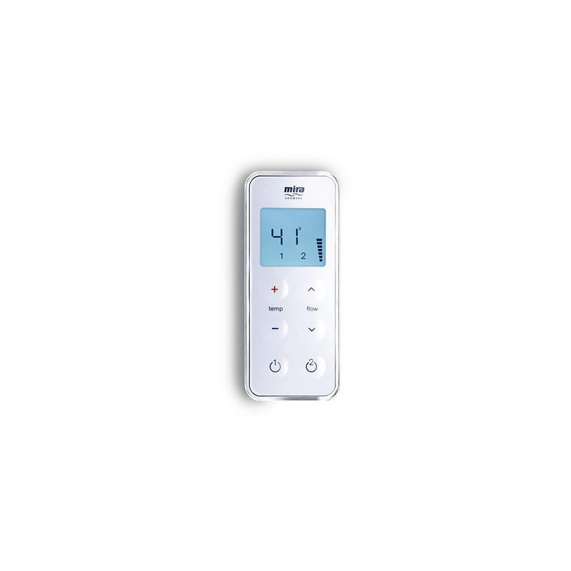 Mira Vision Dual Valve/Controller Only Pumped White/Chrome