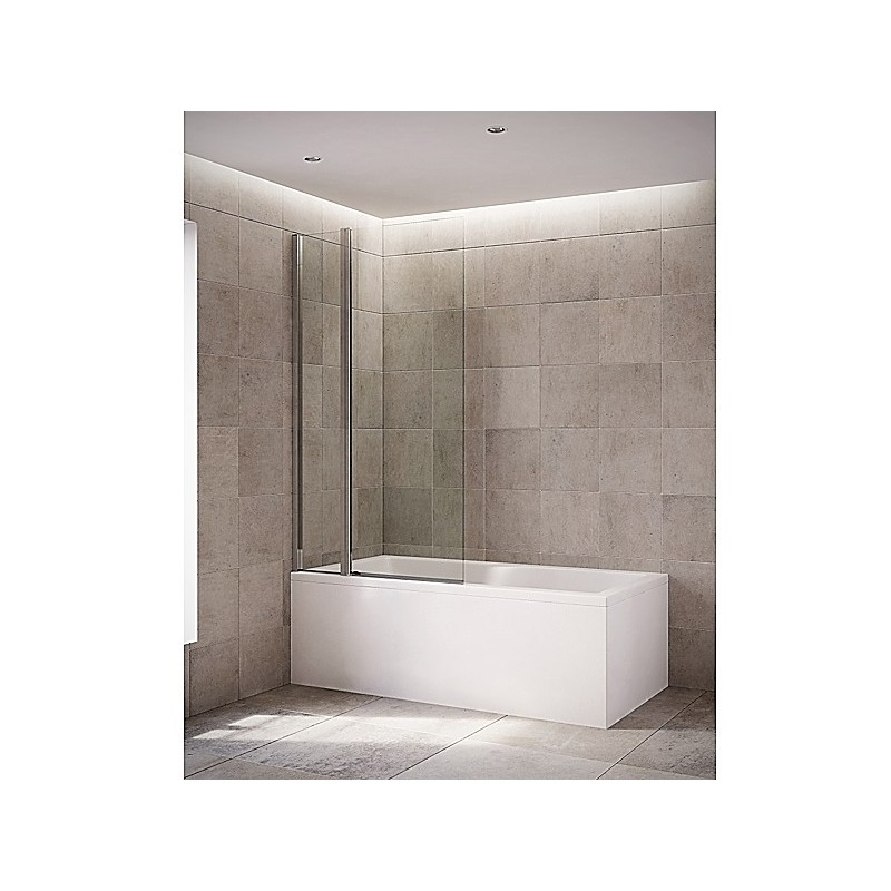 Mira Twin Panel Bathscreen Silver