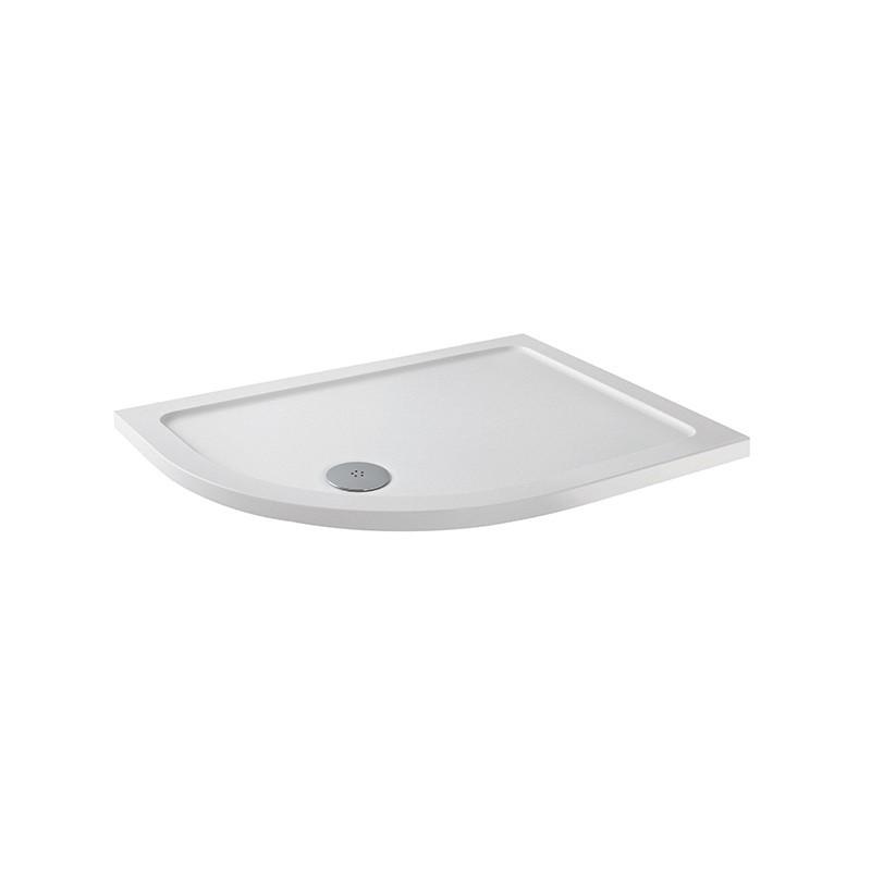 MX Elements 1000 x 700mm Left Hand Offset Quadrant Anti-Slip Tray