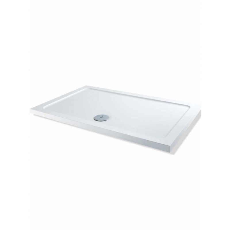MX Elements Low Profile 800 x 760mm Shower Tray & 90mm Waste