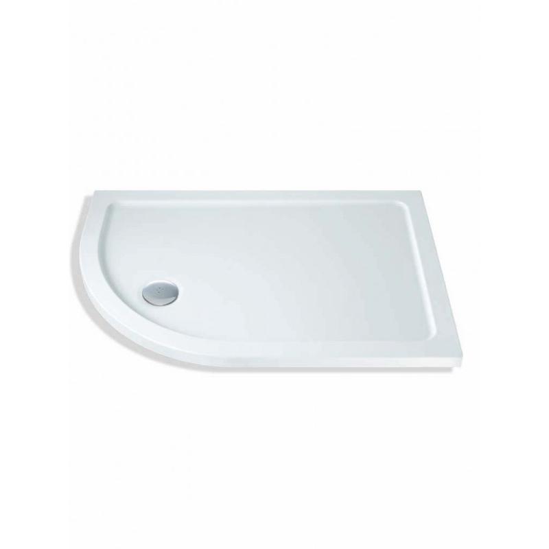 MX Elements 1200 x 760mm Offset Quad Left Shower Tray & Waste