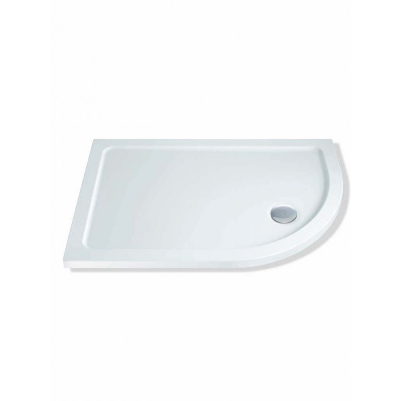 MX Elements 1200 x 800mm Offset Quad Right Shower Tray & Waste