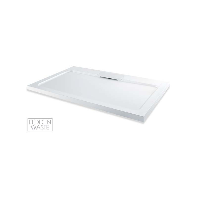 MX Expressions 1700 x 800mm ABS Stone Shower Tray & Waste
