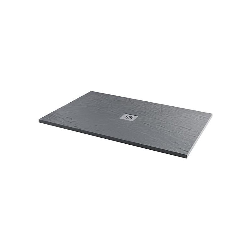 MX Minerals 1400 x 900mm Rectangular Shower Tray Ash Grey