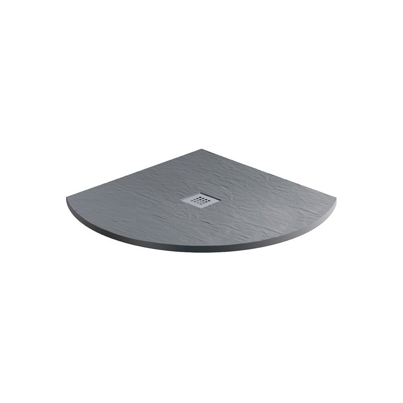MX Minerals 800 x 800mm Quadrant Shower Tray Ash Grey