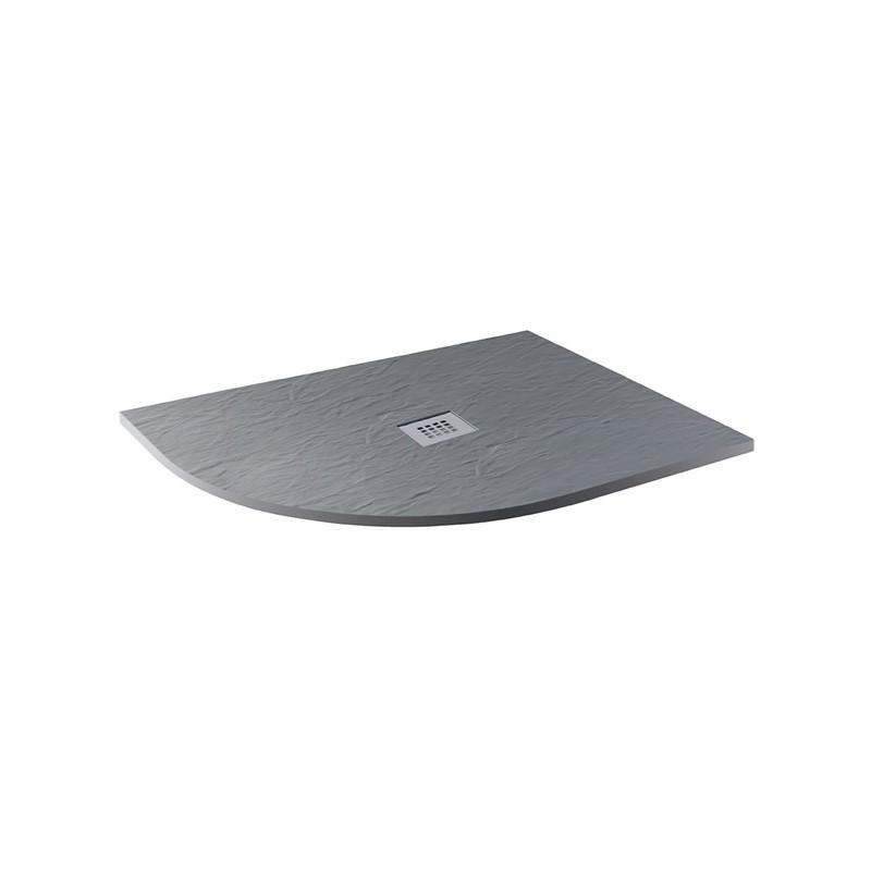 MX Minerals 1200 x 800mm Left Hand Offset Quadrant Tray Ash Grey