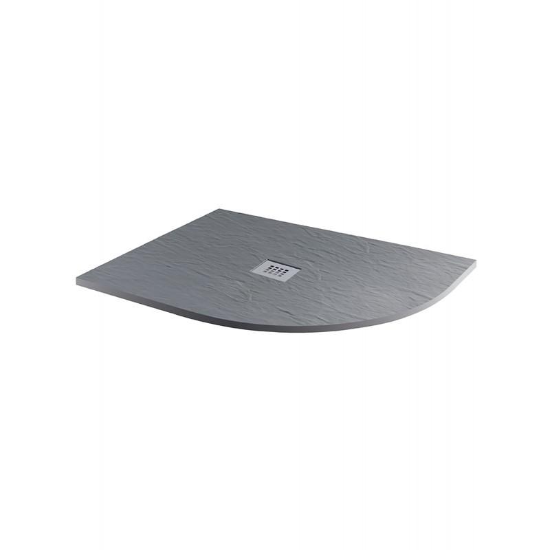 MX Minerals 1200 x 800mm Right Hand Offset Quadrant Tray Ash Grey