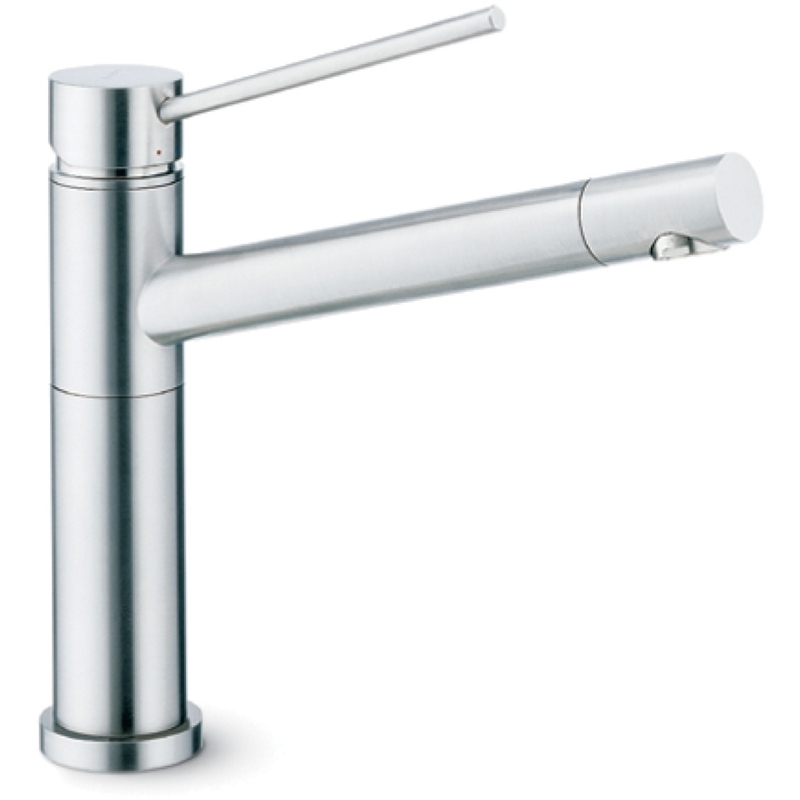 Newform X-Trend Mono Sink Mixer with Swivel Spout Brushed Nickel