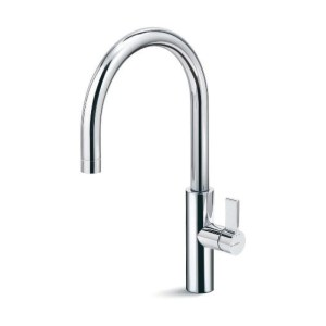 Newform Libera Sink Mixer with Swivel Spout Brushed Steel