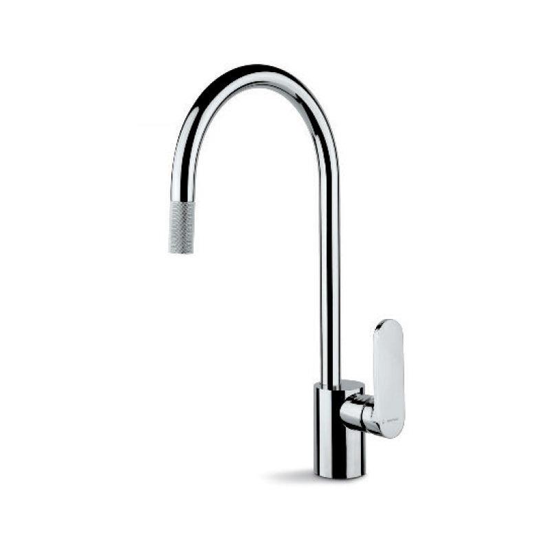 Newform X-Light Mono Sink Mixer with Pull-Out Aerator Chrome