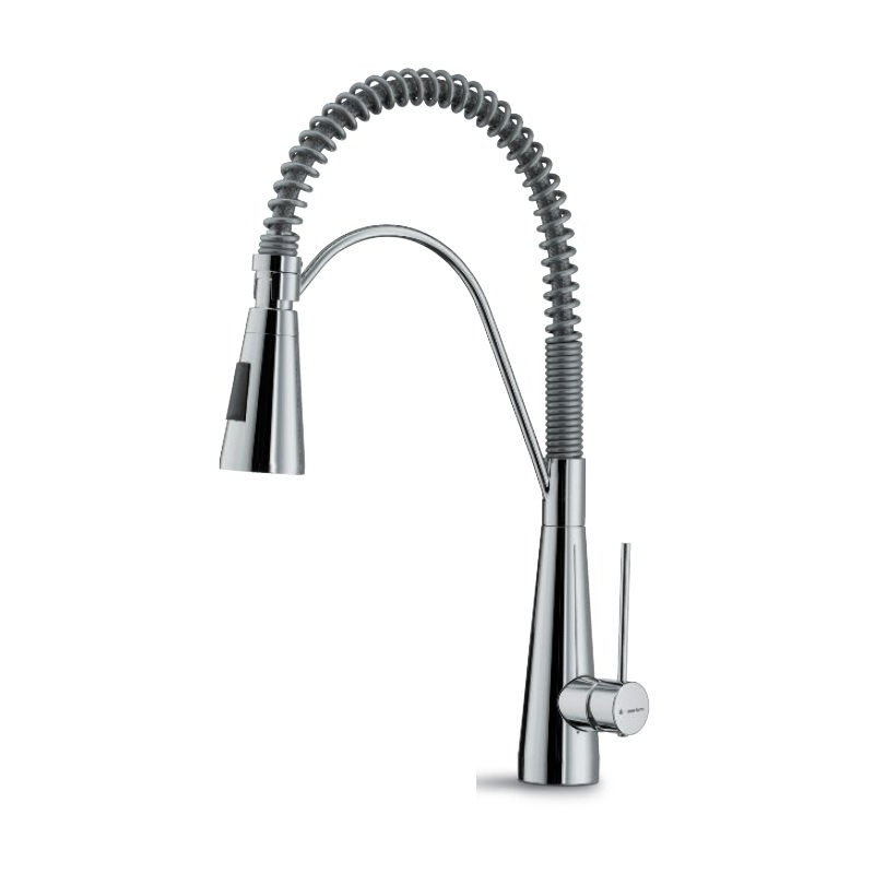 Newform Ycon Mono Sink Mixer with Adjustable Spring Spout Chrome
