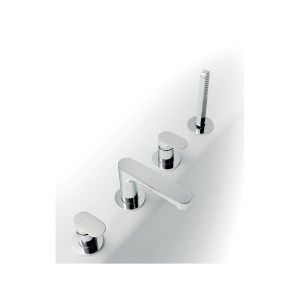 Newform Linfa Deck Bath Mixer with Pull-Out Hand Shower