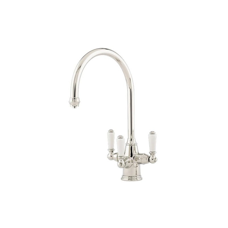 Perrin & Rowe Phoenician Sink Mixer with Filtration Nickel