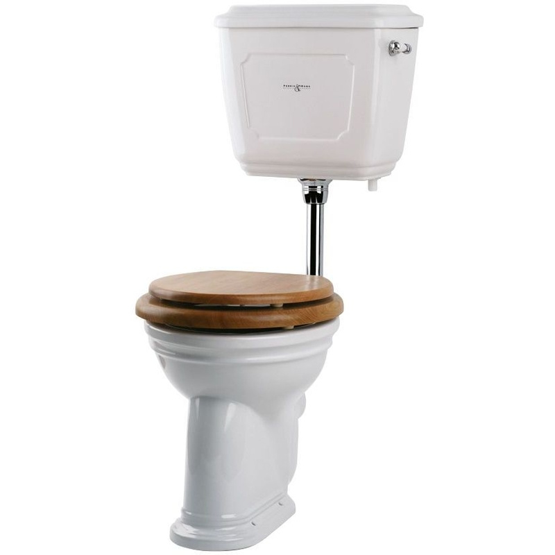 Perrin & Rowe Victorian Low Level WC Pan, White