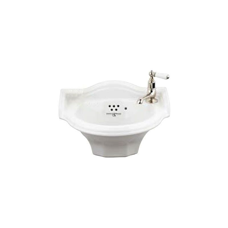 Perrin & Rowe Victorian 1 Hole Cloakroom Basin without Pedestal
