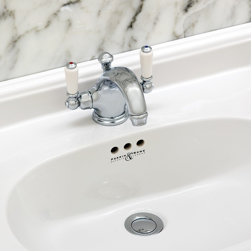 Perrin & Rowe Monobloc Basin Mixer with Lever Handles Gold