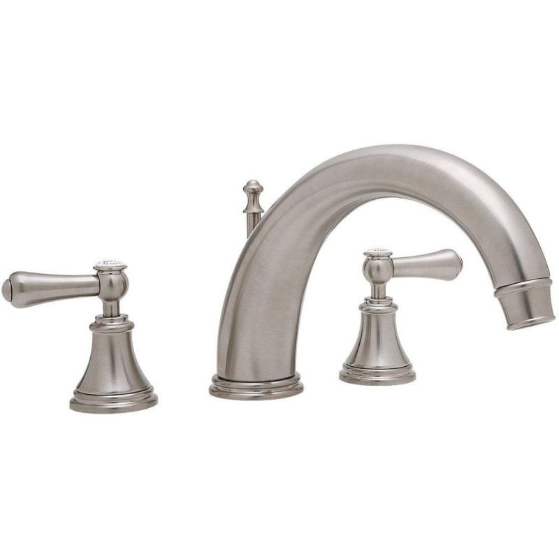 """Perrin & Rowe Georgian 3 Hole Bath Filler with 10"""" Spout, Lever"""