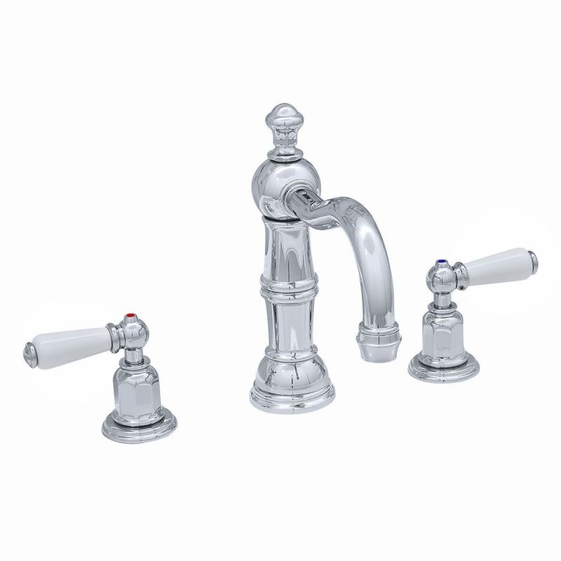 Perrin & Rowe 3 Hole Lever Basin Set Country Spout Chrome