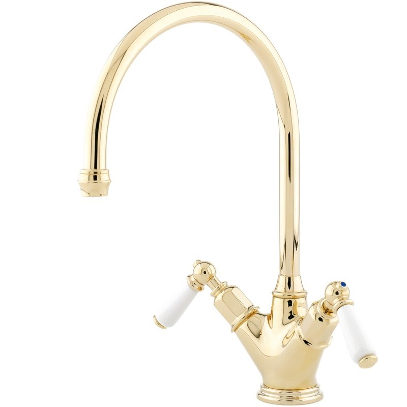 Perrin & Rowe Minoan Sink Mixer with Lever Handles Chrome