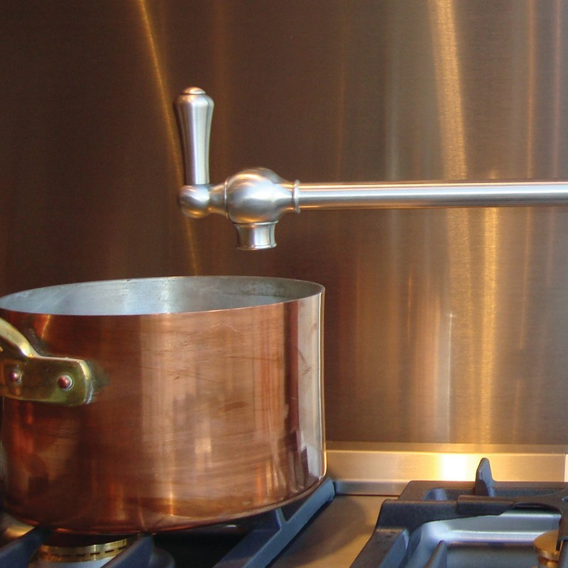 Perrin & Rowe Pot Filler with Lever Handles Chrome