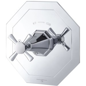 Perrin & Rowe Deco Crosstop Concealed Mixer without Flow Control Pewter