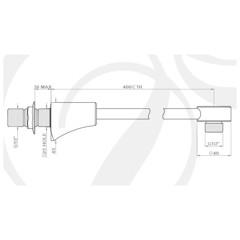 Perrin & Rowe Hoxton Overhead Shower Arm Nickel