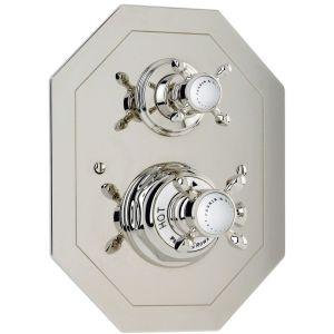 Perrin & Rowe Traditional Crosstop Concealed Shower Mixer Nickel