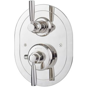 Perrin & Rowe Contemporary Concealed Shower Mixer, Pewter