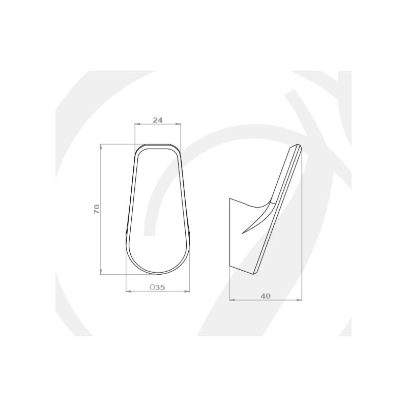 Perrin & Rowe Hoxton Single Robe Hook Nickel