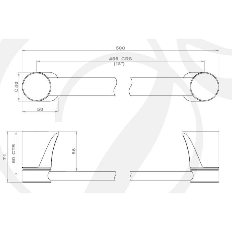 Perrin & Rowe Hoxton 455mm Towel Rail Pewter