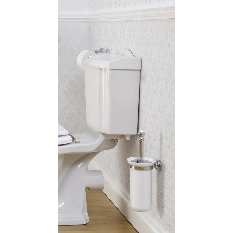 Perrin & Rowe Wall Toilet Brush Holder Pewter