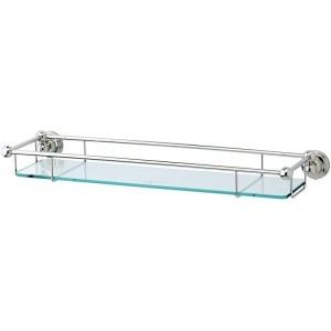"Perrin & Rowe 20"" Glass Shelf Nickel"