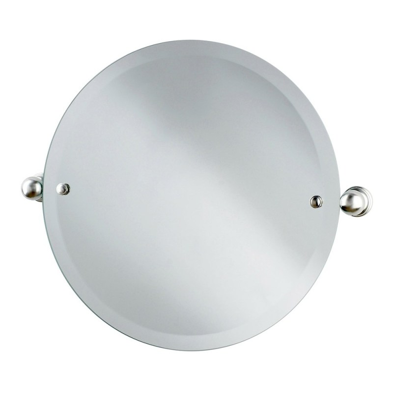 Perrin & Rowe Circular Mirror 500mm Pewter