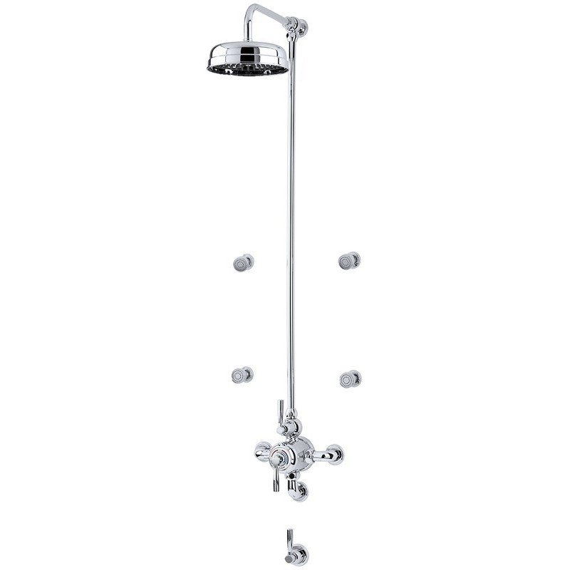 Perrin & Rowe Contemporary Shower Set D One Pewter