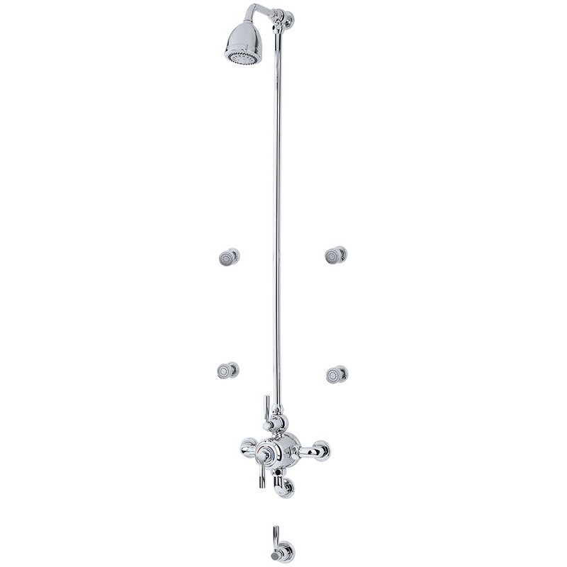 Perrin & Rowe Contemporary Shower Set D Two Pewter