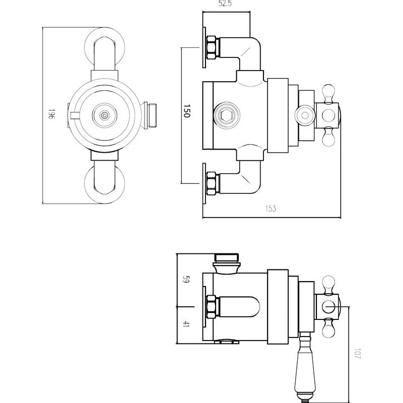 Premier Victorian Dual Thermostatic Shower Valve