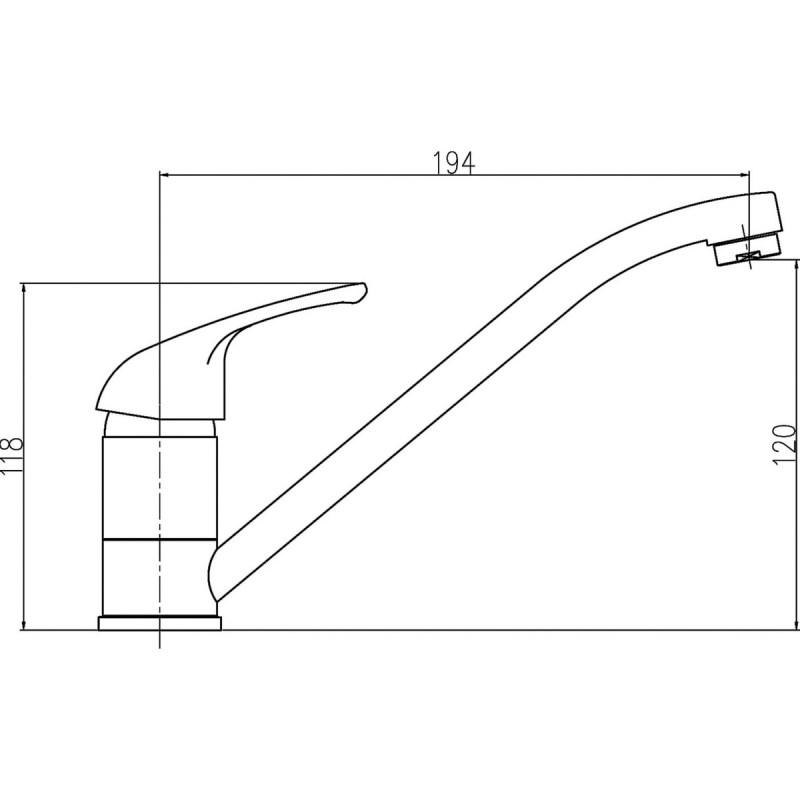 Premier Mono Sink Mixer with Swivel Spout