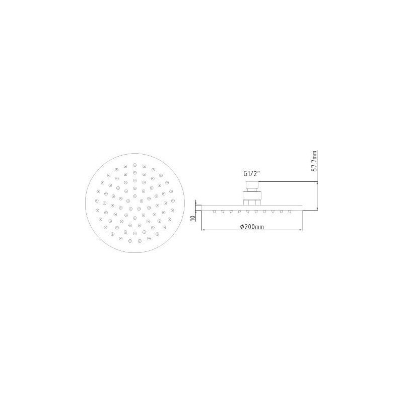 Premier Round LED Fixed Head 200mm