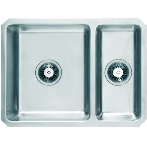 Prima+ 1.5B Undermount Reversible Sink Polished Steel