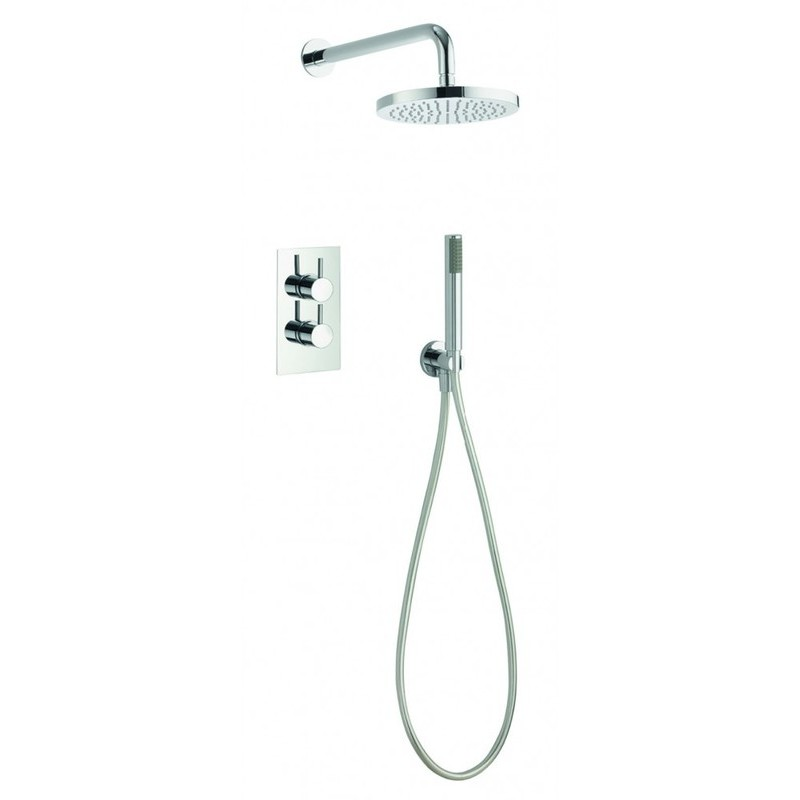 Pura Arco Twin Shower Valve with Fixed Head & Pencil Handset