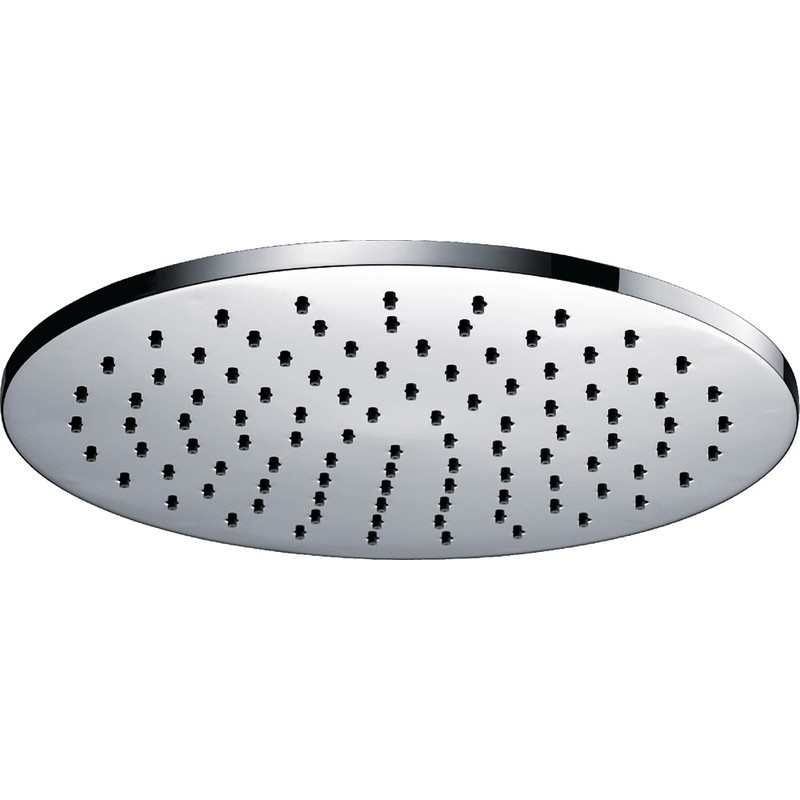 Pura Deluxe Round 250mm Brass Shower Head with Swivel Joint